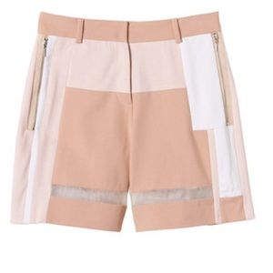 Rebecca Taylor patchwork sheer short